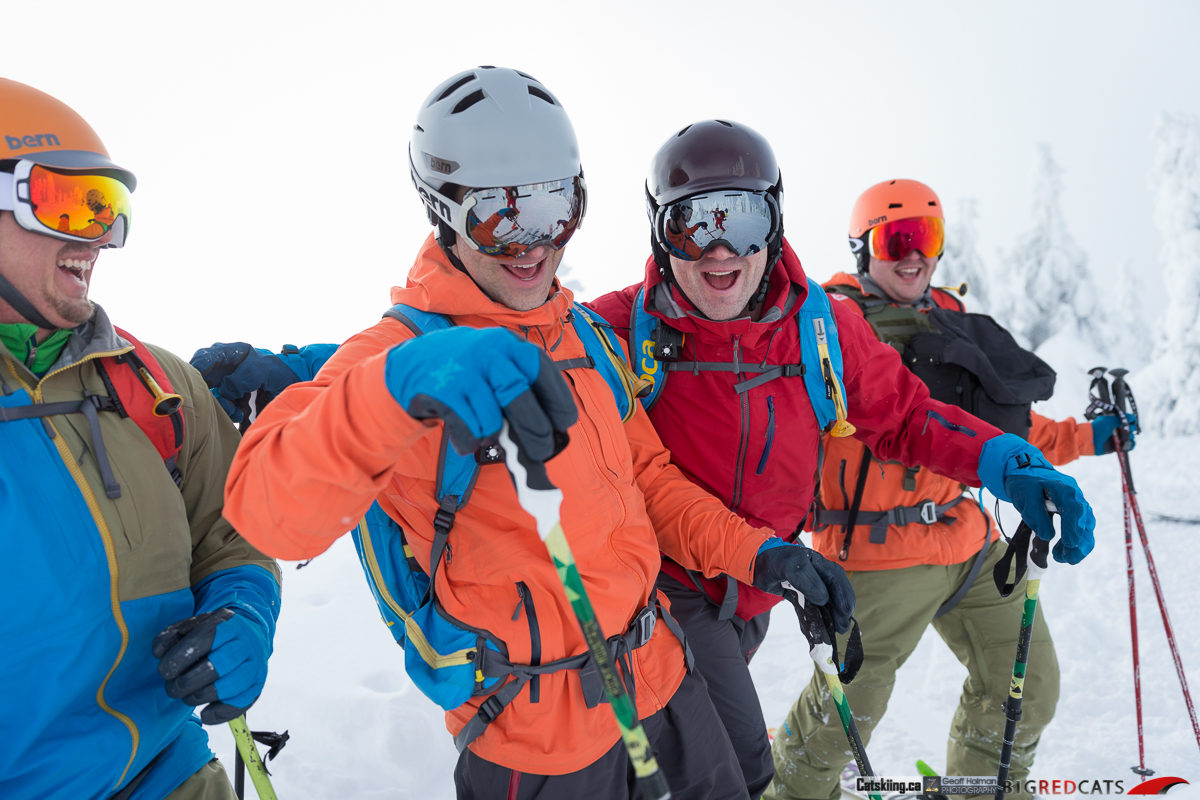 Friends on a Powder Day at Big Red Catskiing Canada