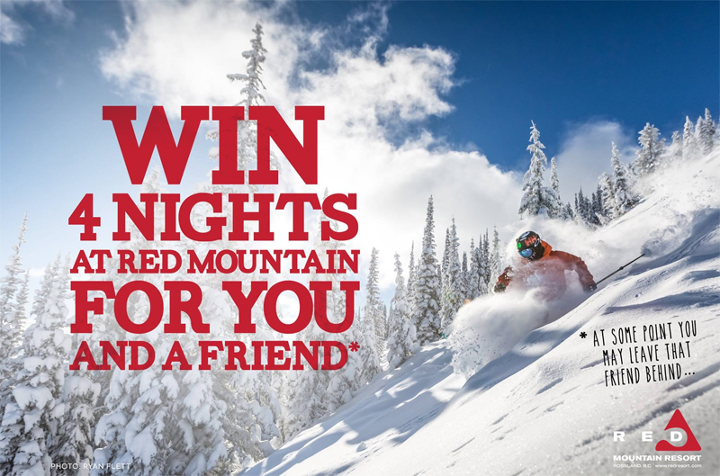 Win a 4 Day Trip to Red Mountain Including 1 Day of Catskiing at Big Red Cats